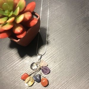 Sterling silver Necklace with Stone pendant